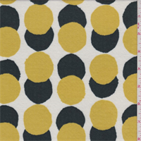 Ivory/Mustard/Hunter Dot Double Sided Knit