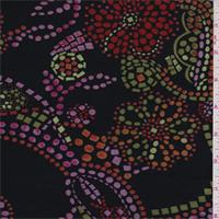 Black Multi Mosaic Floral Stretch Slinky