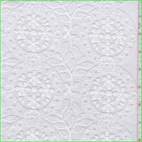 White Floral Medallion Organza