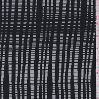 *2 3/4 YD PC--White/Black Textured Knit