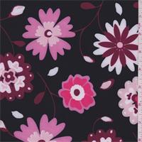 Black/Pink Floral Activewear