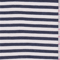 White/Navy Stripe T-Shirt Knit