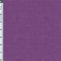 *2 7/8 YD PC--Purple Paisley Jacquard Shirting