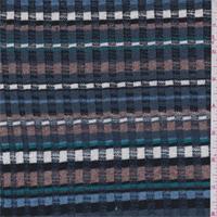 Blue/Cocoa/Black Stripe Sweater Knit