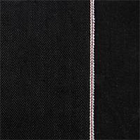 *2 3/8 YD PC--Black Cotton Selvedge Denim