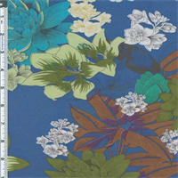 *3 3/8 YD PC--Blue Lakeland Floral Cotton Lawn