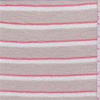 Beige Stripe Sweater Knit