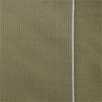 *1 1/2 YD PC--Brown Cotton/Linen Pique Selvedge Denim