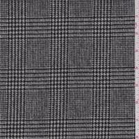 *2 YD PC--Ecru/Black Glenplaid Wool Jacketing