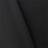Jet Black Double Weave Crepe