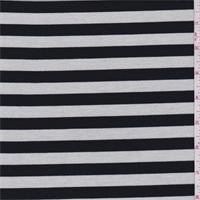 *3 3/4 YD PC--Black/White Stripe Double Knit