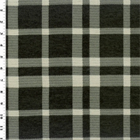 *5 YD PC--Black/White Plaid Chenille Home Decorating Fabric