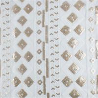 *5 Y DPC--Gold/White Tribal Sequin Mesh