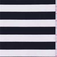 *3 YD PC--Black/White Stripe Double Knit