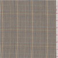 *3 1/4 YD PC--Tan Multi Glen Plaid Suiting