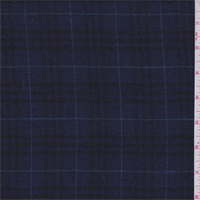 Dark Blue/Black Plaid Linen