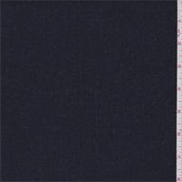 Deep Denim Blue Wool Blend Suiting