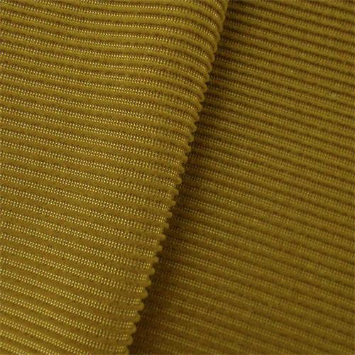 P Kaufmann Mustard Yellow Mohair Stripe Velvet Upholstery Fabric