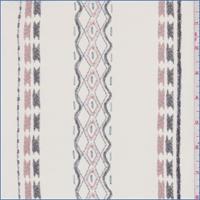 *1 1/2 YD PC--Gardenia Southwest Stripe Silk Chiffon