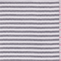 *1 1/8 YD PC--White/Black Stripe Double Sided Shirting