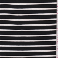 *2 1/4 YD PC--Black/White Stripe Jersey Knit