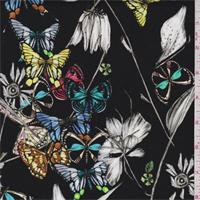 Black Multi Butterfly Jersey Knit