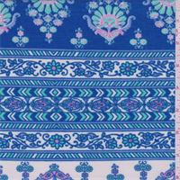 Blue/Ivory/Mint Stripe Jersey Knit