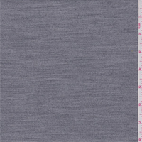 Medium Heather Grey Polyester Blend Suiting