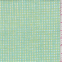 Lime/Turquoise Check Leno Linen