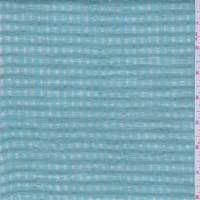 Turquoise/Jade Check Leno Linen