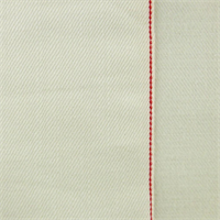 *1 1/2 YD PC--Off White Cotton Selvedge Denim