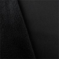 *4 YD PC--Black Single Sided Sweatshirt Fleece