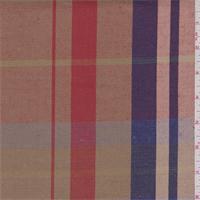 Gold/Red/Violet Plaid Linen