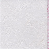 *5/8 YD PC--Off White Floral Paisley Jacquard Knit