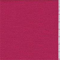 Poppy Red Slubbed Twill
