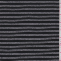 Black/Grey Stripe Rayon Jersey Knit