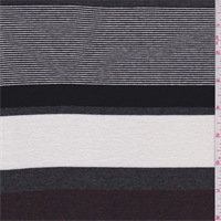 Maroon/Black/Grey Stripe Crepe T-Shirt Knit