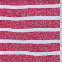 Flame Red/White Stripe Sweater Knit