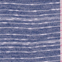 *3 1/8 YD PC--Blue Breeze Stripe Sweater Knit