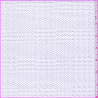 *3 YD PC--White Plaid Jacquard Double Knit
