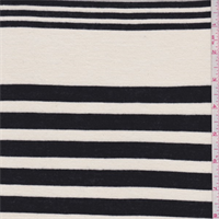 Cream/Black Stripe T-Shirt Knit
