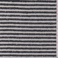 Black/White Stripe Boucle Suiting