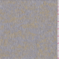 Grey/Gold Foile Print French Terry Knit
