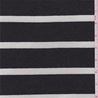 Slate/White Stripe Rayon Jersey Knit