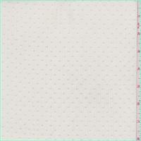 *3 YD PC--Oat Flocked Dot Polyester Chiffon