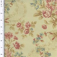 *5 YD PC--Designer Cotton Multi Floral Print Decorating Fabric