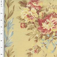 *1 YD PC--Designer Cotton Multi Bouquet Floral Print Decorating Fabric