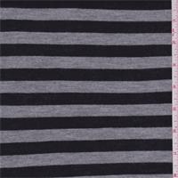Black/Grey Stripe Jersey Knit