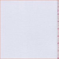 White Polyester Blend Rib Knit