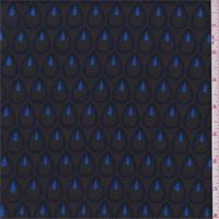 *2 3/4 YD PC--Black/Sapphire Teardrop Brocade
